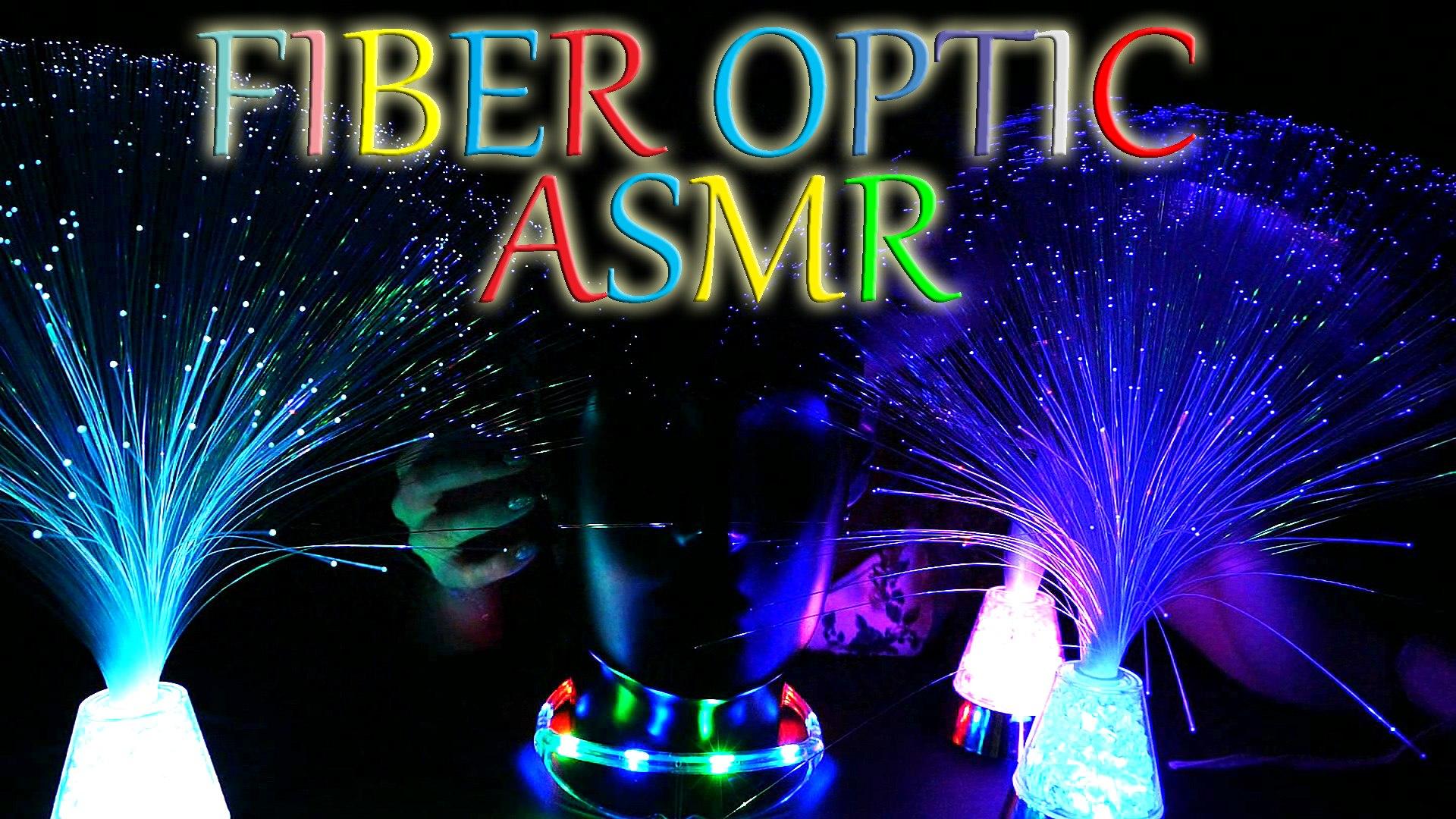 Sleep Inducing Fiber Optic Ear Massage & Binaural ASMR Relaxing Ear to Ear Whisper