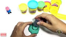 Play Doh Nano - Create ice cream rainbow with clay full color eat by Peppa pig