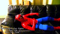 Spiderman Superbaby Spidergirl and GROSS POOPS and FARTS Fun SuperHero Fights In Real LIfe 2016 NEW