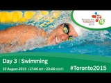 Day 3 | Swimming | Toronto 2015 Parapan American Games