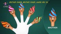 Cone Ice Cream Finger Family Finger Family Songs | Daddy Finger Nursery Rhymes
