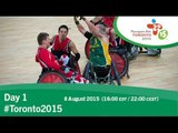 Day 1 | Toronto 2015 Parapan American Games