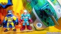 GIANT SURPRISE EGG IMAGINEXT batman toys play sets DC Comics Superman Joker