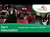 Day 5 | Toronto 2015 Parapan American Games