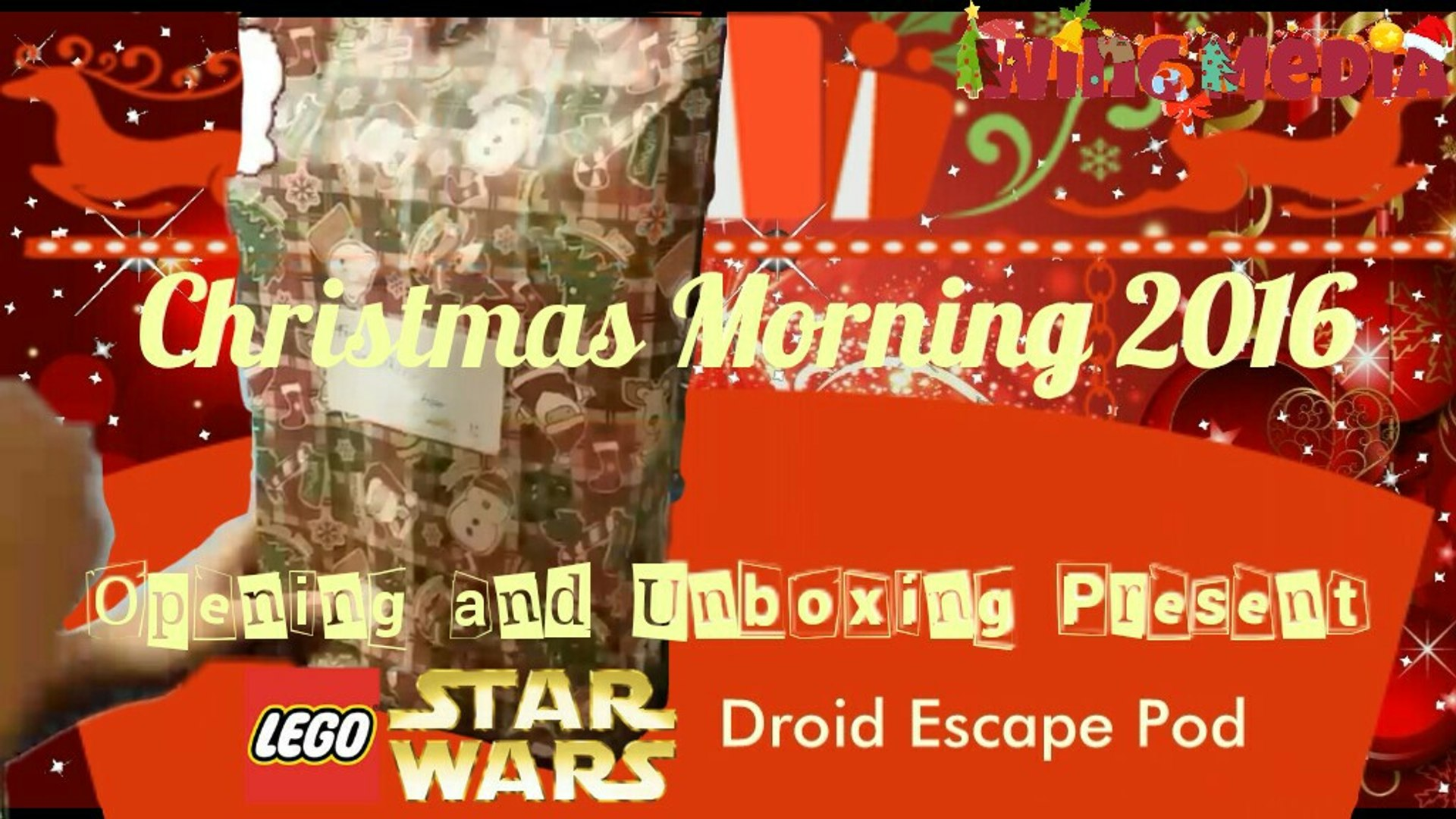 Christmas Morning 2016 Opening Present Lego Star Wars - Droid Escape Pod