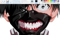 How I Draw using Mouse on Paint  - Kaneki Ken - Tokyo Ghoul