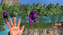 Colors King kong Finger Family - Dinosaurs Wild animals Finger Family 3d Nursery Rhymes Animation