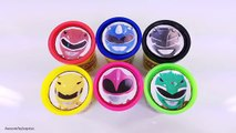 Power Rangers Playdoh Tubs Playdoh Dippin Dots Toy Surprises! Learn Colors!