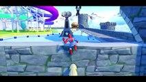 Wheels On The Bus Nursery Rhymes Song & Spiderman Hulk Venom Lightning McQueen Cars !