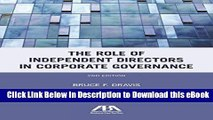 [Read Book] The Role of Independent Directors in Corporate Governance: An Update of The Role of
