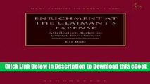 [Read Book] Enrichment at the Claimant s Expense: Attribution Rules in Unjust Enrichment (Hart