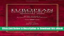 [Read Book] European Competition Law Annual 2010: Merger Control in European and Global