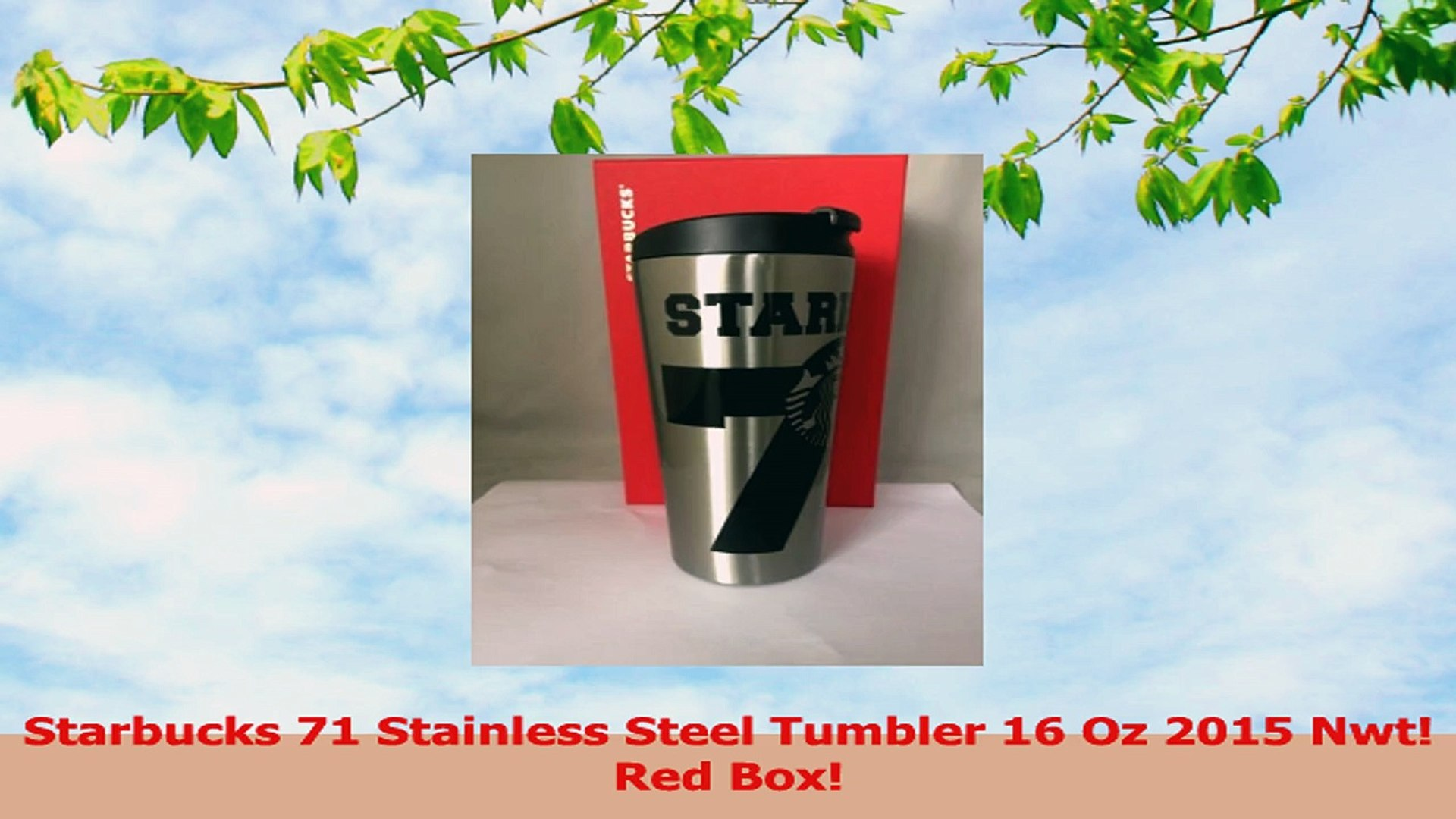 3ccb52f7f94 Starbucks 71 Stainless Steel Tumbler 16 Oz 2015 Nwt Red Box 6282b4e1 ...