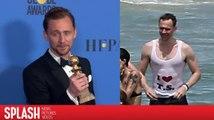 "Tom Hiddleston explique enfin son t-shirt ""I coeur T.S."""