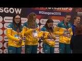 Women's 4x100m Freestyle Relay 34points | Victory Ceremony |2015IPCSwimmingWorldChampionshipsGlasgow