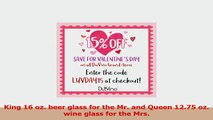 King Beer Queen Wine Glass 16 oz Pint Glass 1275 oz Wine Glass  Valentines Day Gift d939175d