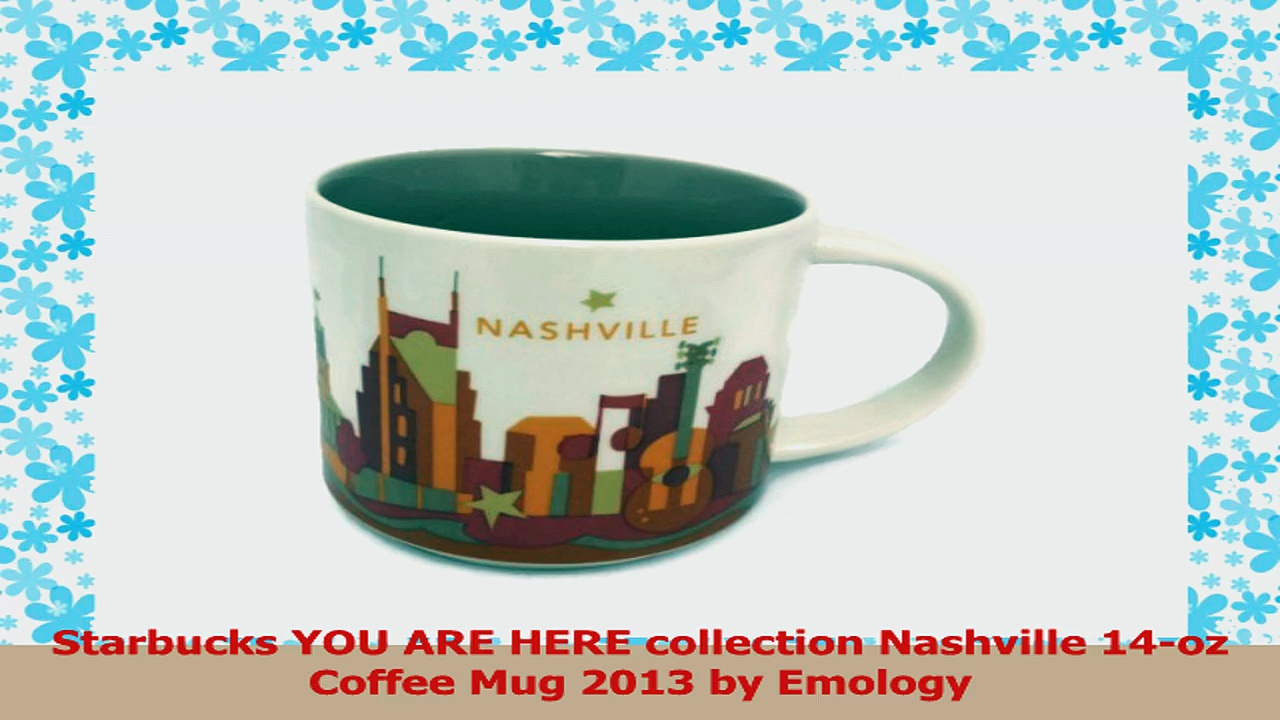 Starbucks YOU ARE HERE collection Nashville 14oz Coffee Mug 2013 by Emology 3421a525