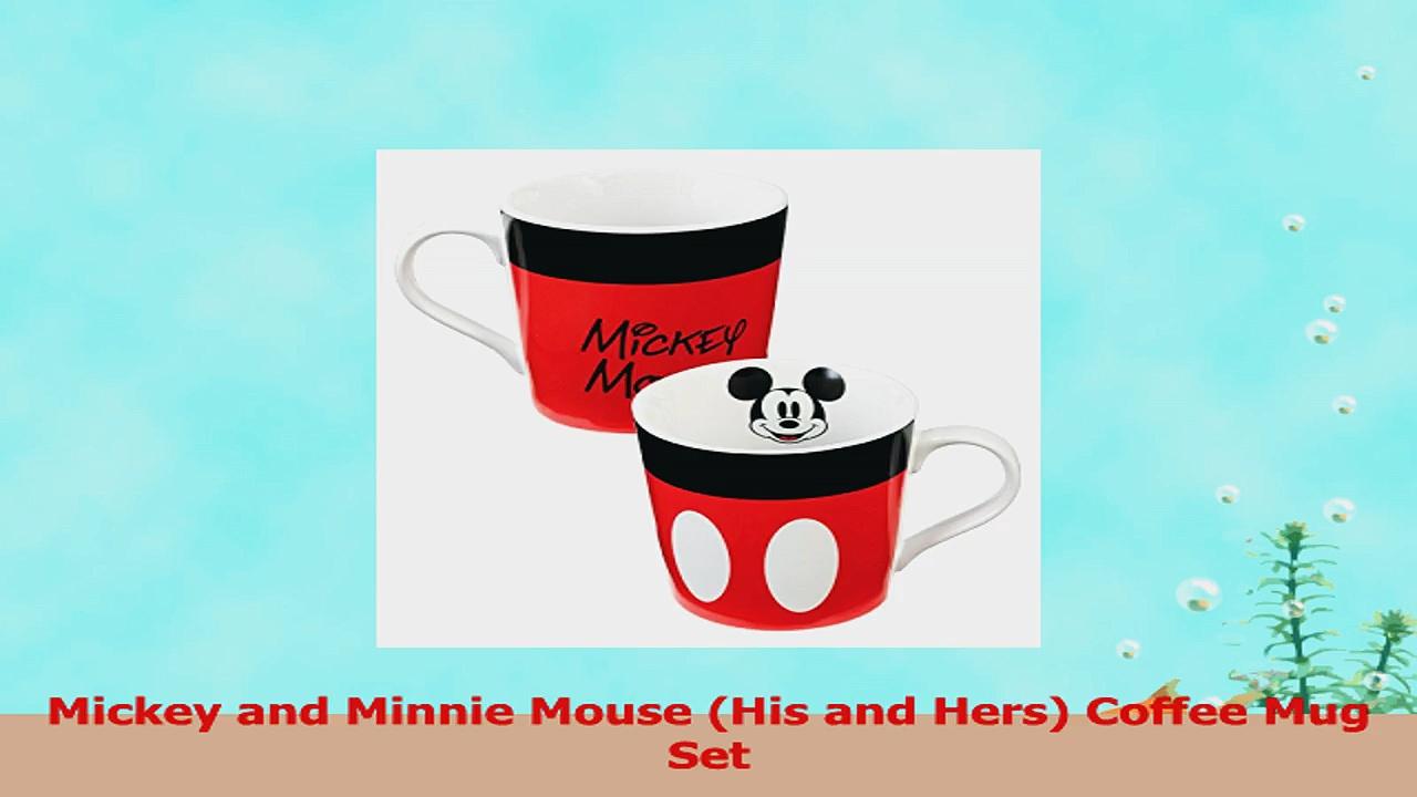 Mickey and Minnie Mouse Ceramic Coffee Mug Set 71189e54
