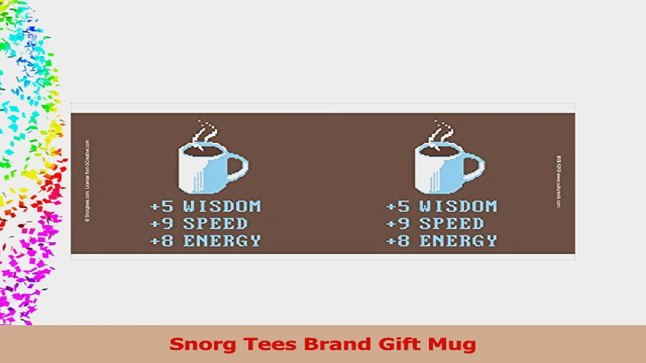 Snorg Tees Coffee Plus to Stats Novelty Lifestyle College Video Game Humor Ceramic Gift 07f45d53