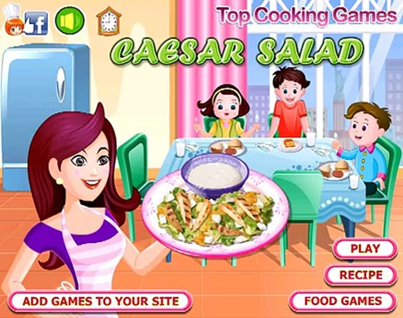 Mexican Chicken Salad Games-Cooking Games-Hair Games
