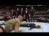 WWE Raw Randy Orton Attack Stephanie Mc Mahon in front of Triple h eyes look what does Triple h after Full HD