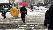 Etats-Unis: tempête de neige sur le nord-est, les écoles fermées
