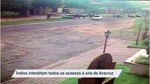 Índios interditam todos os acessos à orla de Aracruz