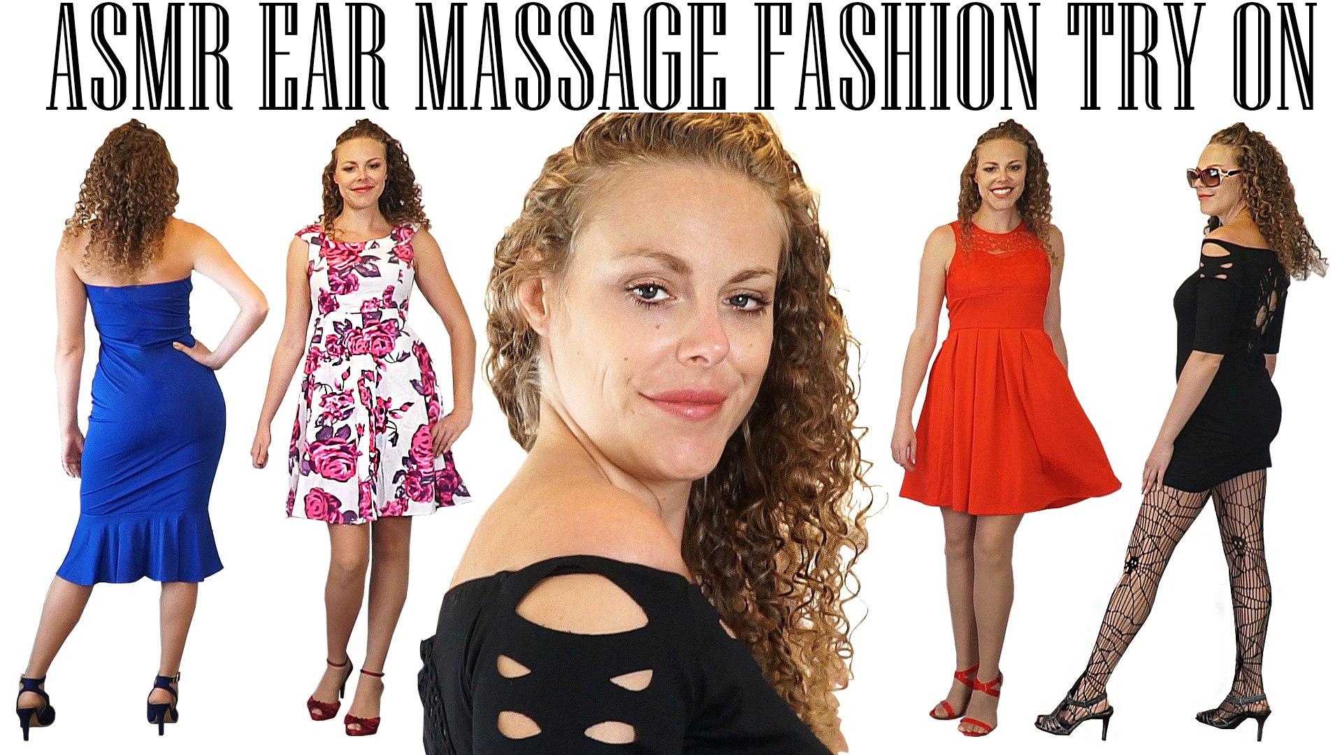 ASMR Ear Massage, Whispers & Rain Sounds +DressLily Halloween Giveaway! Fashion Haul