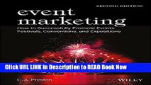 [Popular Books] Event Marketing: How To Successfully Promote Events, Festivals, Conventions And