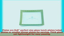 GAC Frosted Design Tempered Glass LunchDinner Plates Set of 6  Break and Chip Resistant 975d4f86