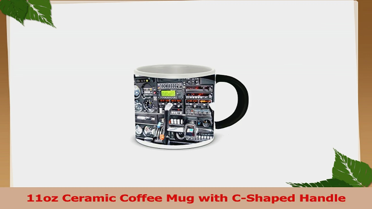 Rikki Knight Photo Quality Ceramic Coffee Mug 11 oz Flight Airplane Cockpit 51bf840a