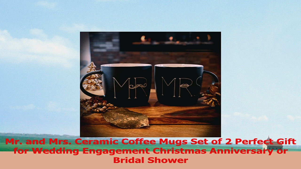 MKT ST Mr and Mrs Ceramic Coffee Mug Matte Black Set of 2 046c78e9