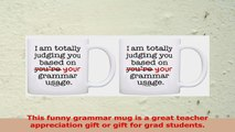 Grammar Mug Im Judging You Based On Your Grammar Usage 2 Pack Gift Coffee Mugs Tea Cups 2d3bc33c