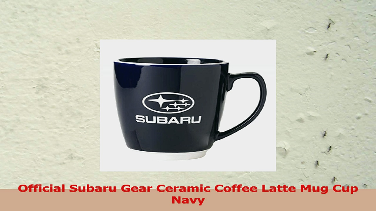 Official Subaru Gear Ceramic Coffee Latte Mug Cup Navy 6e2b9242