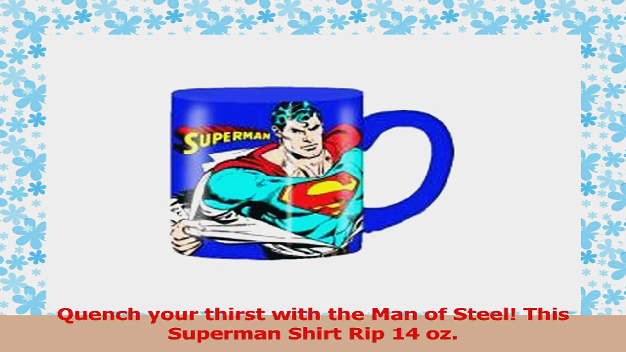 Superman DC Comics Comic Removing Shirt 14 ounce Ceramic Coffee Mug 75cd1be6