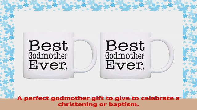 Godmother Gifts Best Godmother Ever Mothers Day Gift 2 Pack Gift Coffee Mugs Tea Cups c74cd149