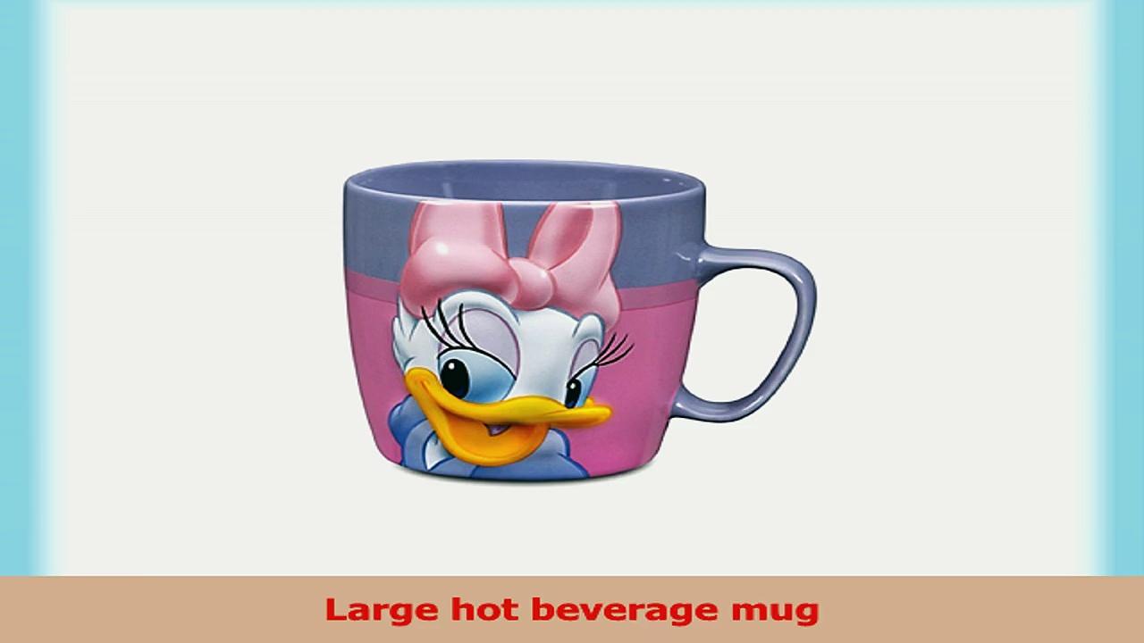 Disney Store Daisy Duck Coffee Mug Cup Bright Pink Purple 3feb20f4