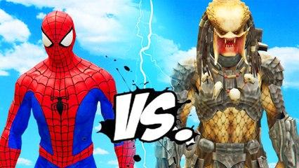 SPIDERMAN VS PREDATOR - EPIC BATTLE