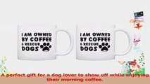 Dog Lover Gift Owned by Coffee and Rescue Dogs Coworker 2 Pack Gift Coffee Mugs Tea Cups a5aee8e0