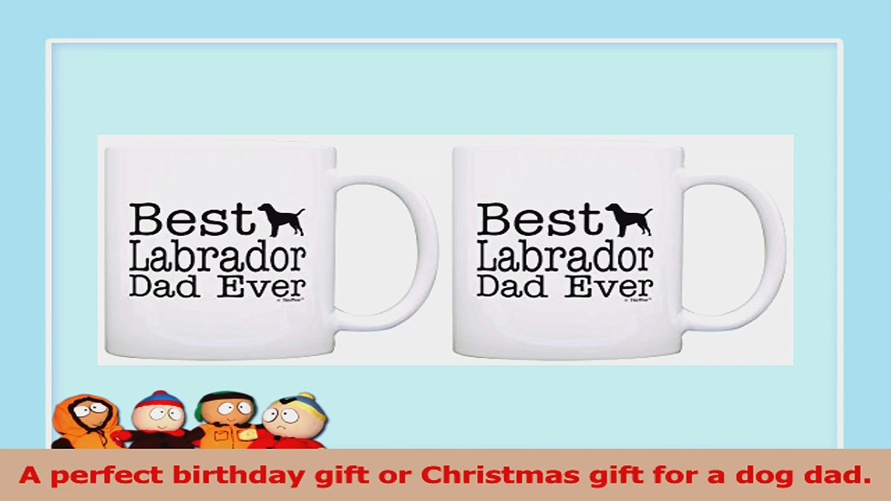 Pet Owner Gifts Best Labrador Dad Ever Animal Lover Rescue 2 Pack Gift Coffee Mugs Tea 845f22fb