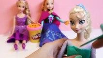 Queen Elsa Disney Frozen Dolls Princess Anna Princess Rapunzel Play Doh Design a Dress for Elsa Doll
