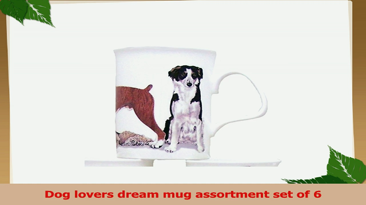 Roy Kirkham Dog Galore Bone China Mugs  Set Of 6 a96ba760