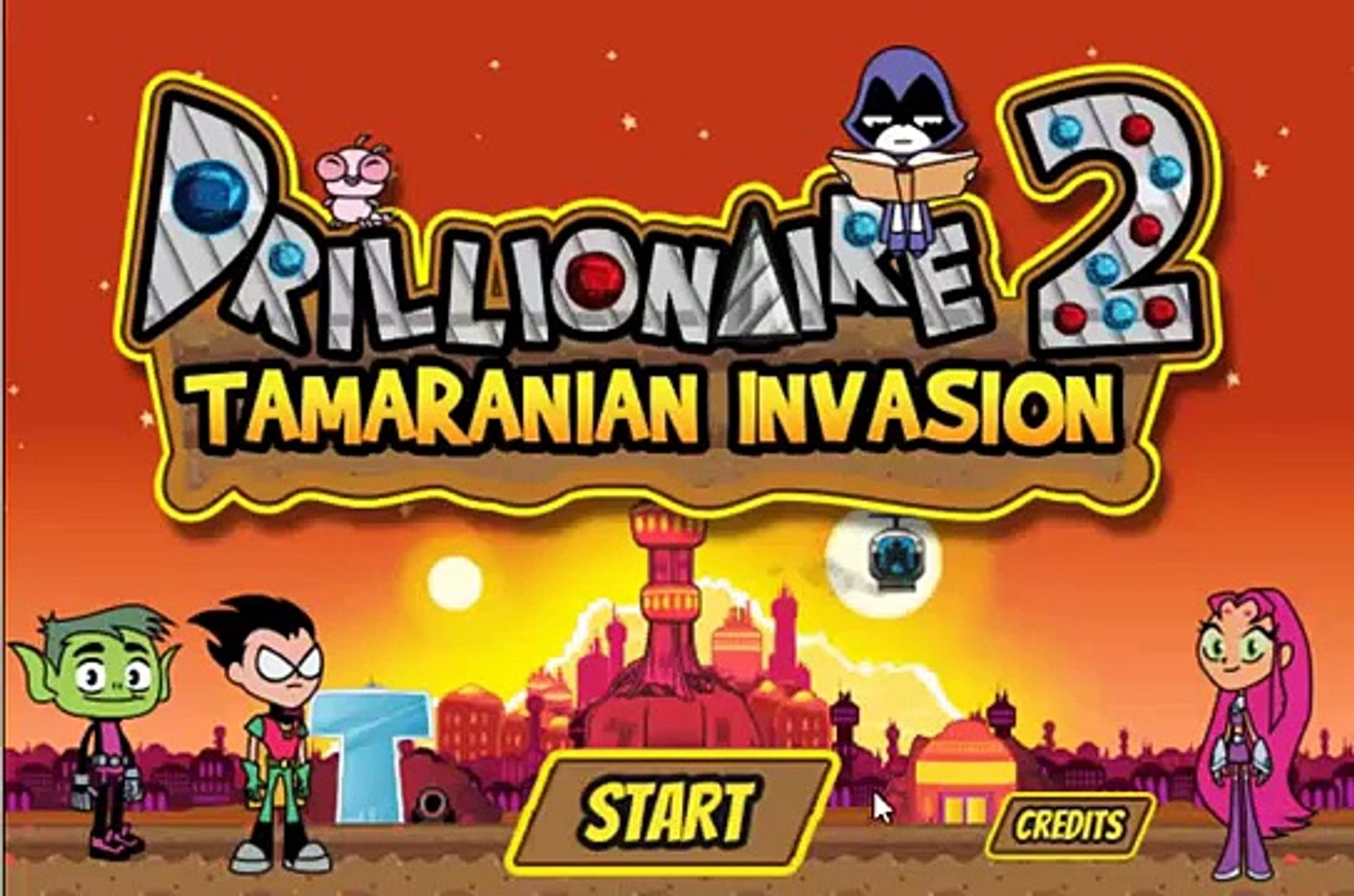 Teen Titans Go Drillionaire 2 Tamaranian Invasion Cartoon Network Games For Kids 2 Video Dailymotion