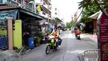 ホストのタイ,バンコクの露店,交通渋滞動画 Bangkok Traffic congestion
