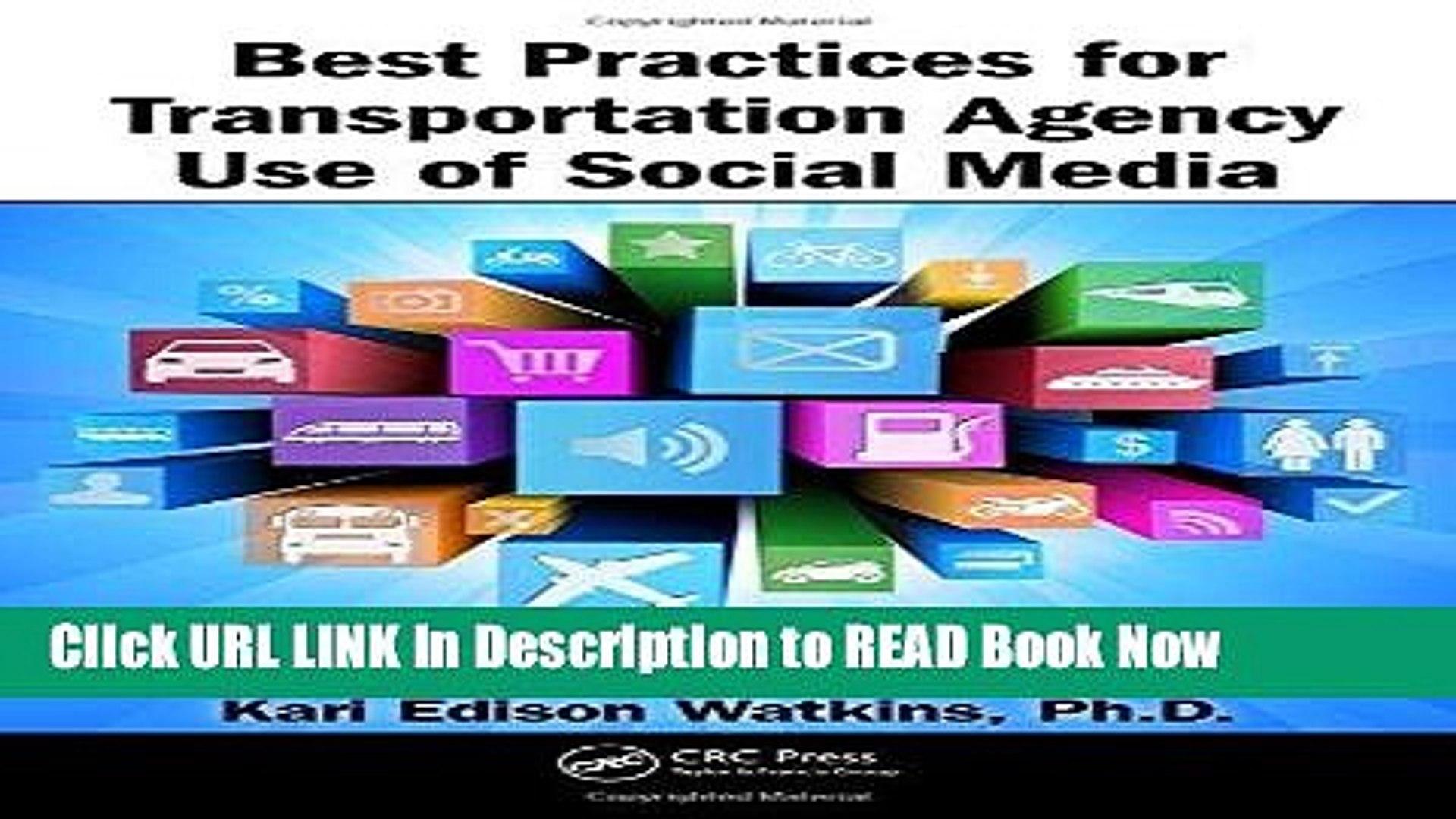 [PDF] Best Practices for Transportation Agency Use of Social Media Book  Online