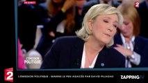 Marine Le Pen agacée par David Pujadas dans L'émission Politique, elle réplique sèchement (Vidéo)