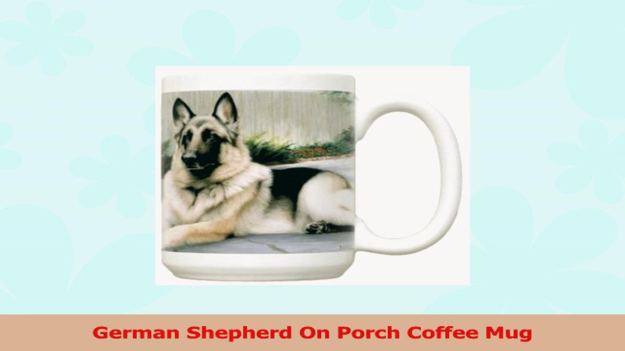German Shepherd On Porch Coffee Mug abdb9dfc