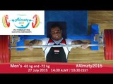 Men's -65 kg and -72 kg | 2015 IPC Powerlifting Asian Open Championships, Almaty