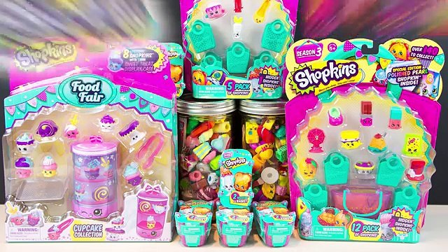 SHOPKINS Season 3 Food Fair Cupcake Collection 12 Pack 5 Pack Blind Baskets Kinder Playtime