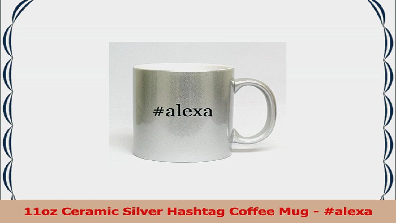 11oz Ceramic Silver Hashtag Coffee Mug  alexa 8ca35bee